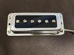 Rickenbacker style Pickup in p90 design,open Metal Chrome cover,Neck and Bridge Set