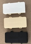 2PCS,Without holes,Jazzmaster Pickup Covers Aged White,Ivory,or Black