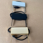 Eric Custom,Jazz mini-humbucker Leg Pickup, Chrome/Black/Gold,in 2 mini humbucker coils,Alnico 5,pickup thickness:13mm