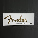 Gold Water Slide Decal Logo Custom Telecaster for Fender Repair Restoration