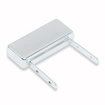 Mini Humbucker With Leg,Jazz Guitar Neck Pickup Cover Chrome,Nickel Sliver Material