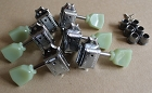Nickel color,Wilkinson Deluxe 3L+3R Guitar Machine Head Tuner,with aged