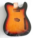 Tele Guitar Body,Alder Wood, Sunburst 3T Gloss Finish,