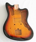 Jazzmaster Guitar Body,Alder Wood, Sunburst 3T Gloss Finish