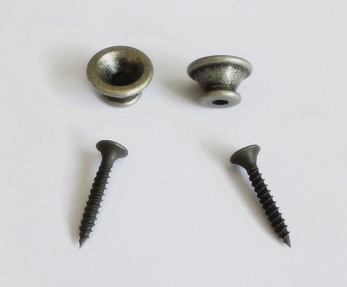 1Set,New End Pin, for Acoustic,Electric Guitar,Bass,Antiqued Sliver finish
