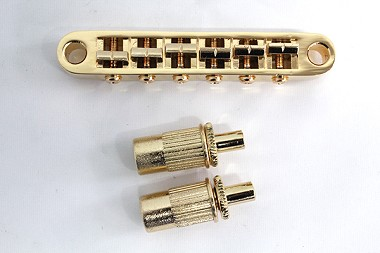 Gold Tune-O-Matic Bridge for Les Paul guitar,Curved Bottom Base