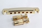 Gold Tune-O-Matic Tailpiece for Les Paul guitar,Curved Bottom Base