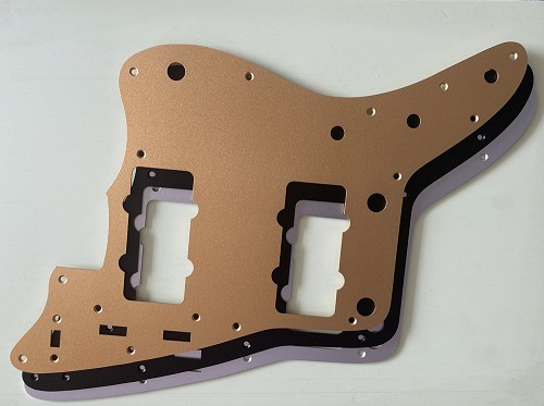 Metal Aluminum Anodized Pickguard,for '62 Jazzmaster Pickguard,Red Tortoise Shell,Fits USA Fender