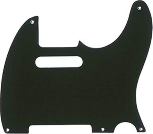 New Painted Bakelite Pickguard,Black,1ply,5-mounting hole,thickness 2mm,Fits Fender Telecaster '52 pickguard