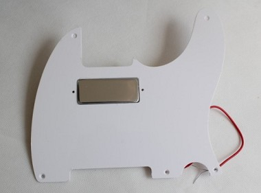 Mini Humbucker Pickup,Chrome,Alnico V,and with matched 1 ply pickguard,Color Choice:White or Black