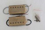 Antiqued Brass finish Cover,LP covered Humbucker Pickup,Neck and Bridge set,Alnico
