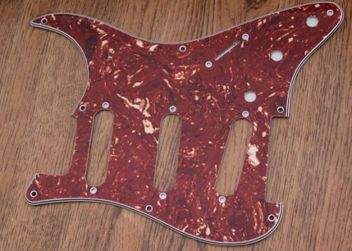 Stratocaster '57 pickguard,Red Tortoise Shell fits fender new,#V005