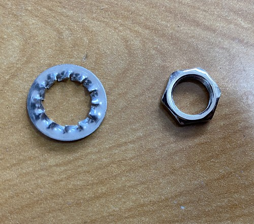 Guitar Nut,Lock Washer for CTS potentiometer,Switchcraft Jacks Nickel