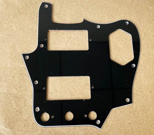 JAGUAR Pickguard for Humbucker Pickup,Black 3ply