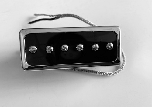 Mini Humbucker Chrome,Neck or Bridge,Alnico 5,with Metal Shield Wire