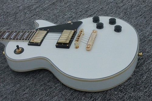 LP Guitar White Guitar,2 weeks Production time,Chrome or Gold hardware option