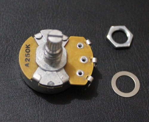 """ALPHA"" Brand Potentiometer,A250K,Full Size ,15mm shaft,Audio Taper,for Stratocaster and Telecaster Wire Custom,#M032"