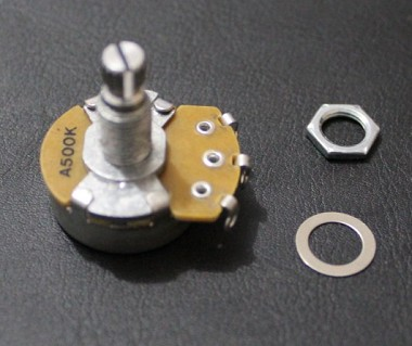 """ALPHA"" Brand Potentiometer,A500K, Full Size, 18mm shaft,Audio Taper,Les Paul Wire Custom,#M034"