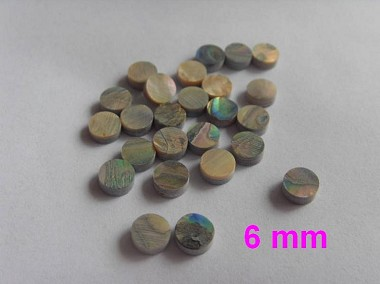 25pcs*Guitar Bass Finerboard Inaly,Abalone Dot,Diameter 6mm