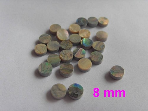 25pcs*Guitar Bass Finerboard Inaly,Abalone Dot,Diameter 8mm