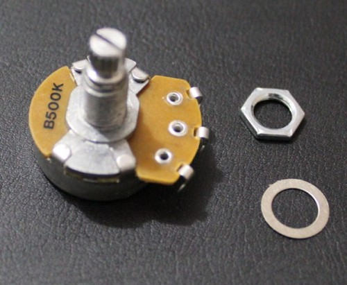 """ALPHA"" Brand Potentiometer,B500K, Full Size, 18mm shaft,Linar Taper,Les Paul Wire Custom,#M033"