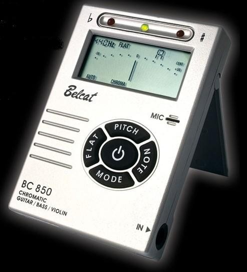 Belcat Guitar,Bass,Violin tuner-Silver Color