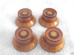 4 *Amber Guitar Bell Knob for Les Paul,SG,335 NEW,Inch size