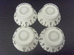 4 *White Guitar Bell Knob for Les Paul,SG,335 NEW,Inch Size