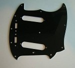 NEW 3 Ply Black Pickguard fits Fender USA Mustang Guitar,#P042