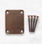 Antiqued Bronze finish,Neck Body Joint Plate w/ Screw fit Fender Strat Tele