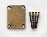 Antiqued Brass finish,Neck Body Joint Plate w/ Screw fit Fender Strat Tele