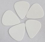 50Pcs*White Color,Plastic ABS Guitar Picks 0.71mm