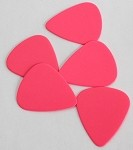50Pcs*Pink Color,Plastic ABS Guitar Picks 0.71mm