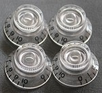 4 *CLEAR Guitar Bell Knob for Les Paul,SG,335 NEW,Metric size