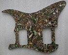 Celluloid Plastic Abalone Material,Strat 2H(HH) pickguard for Fender,#U022