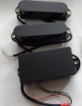 Artec Power Single Pickups SMDA35 Neck/Middle,Hum Cancelling,+1 Humbucker Bridge,Black cover,SSH(Alnico)