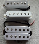 Artec Power Single Pickups SMOA36 Neck/Middle,+1 Humbucker HBWA-TBN-B Bridge,White cover,SSH(Alnico)
