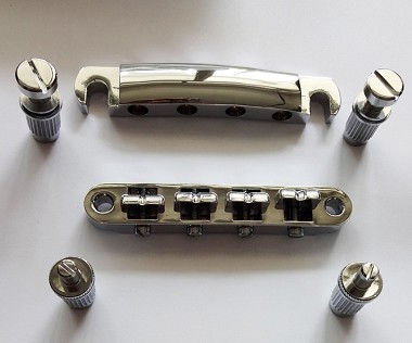 New Chrome Tune-O-Matic Bridge Tail for Les Paul 4 Strings Bass,for arch top body