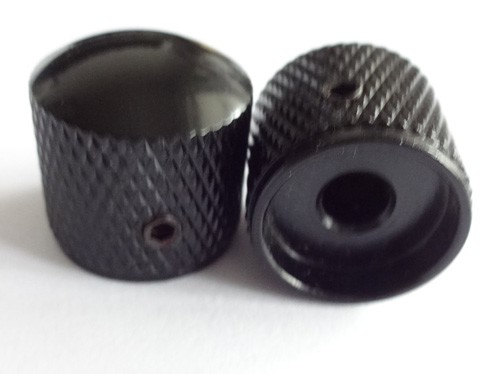 2Pcs*Black Solid Metal Dome Top Knob,Screw style,Big Size
