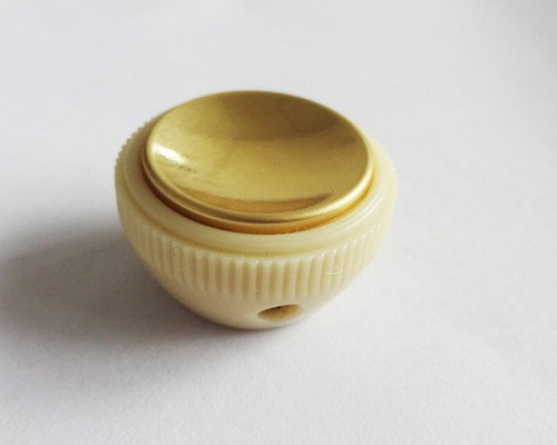 Vitage Teacup Hofer Style Bass Knob,Vitage Cream with Gold top