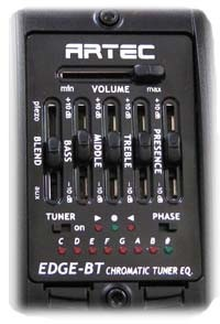 Artec EDGE BT MC,Blender funtion and 4 Band EQ.With Microphone unit,Piezo Pickup PP607,and Built in Tuner