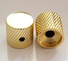 2Pcs*Gold Solid Metal,Flat Top Knob,Screw style