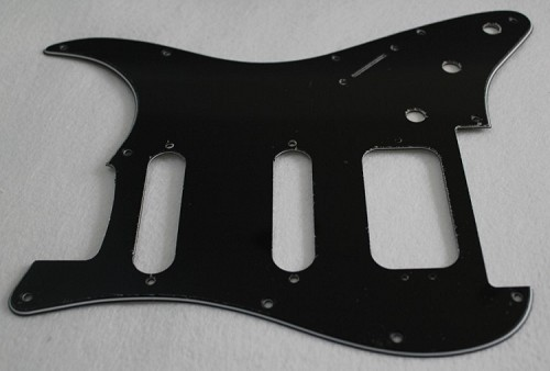 Black 3ply Strat Pickguard,Fits Fender Floyd Rose HSS  Stratocaster,(Humbucker with 3 pickup mounting holes)