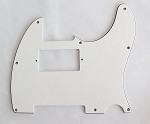 White 3 ply,Tele humbucker cut-out pickguard 8-hole mounting