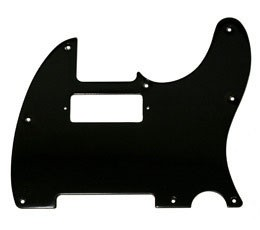 1 ply black Telecaster pickguard,8-mounting hole,pickup cutout for mini humbucker