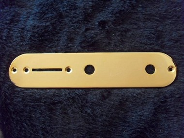 34mm width,Gold  Tele Control Plate,Potentiometer Mounting hole diameter 7mm(0.28inch)