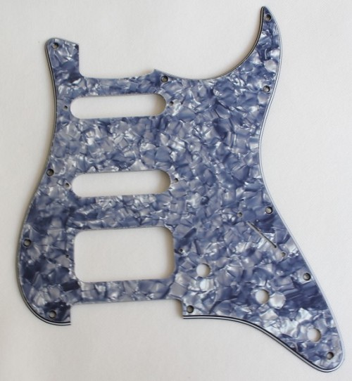 SSH / HSS LONE STAR Fat Strat Pickguard,Gray Pearl,SSH