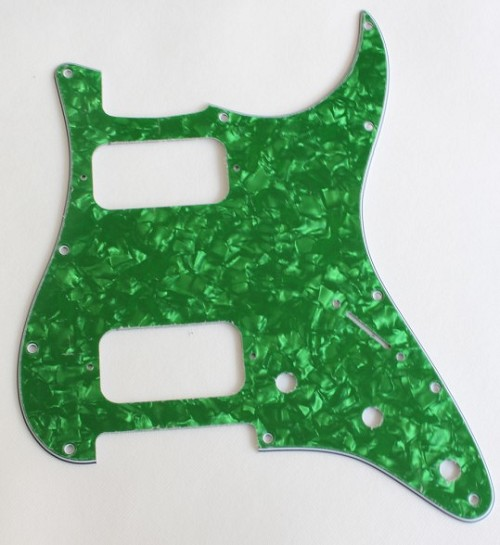 Stratocaster HH pickguard,Green Pearl,fits fender new