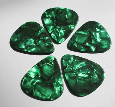 5Pcs* Celluloid Green Pearl Guitar Picks 1.2mm,351 size