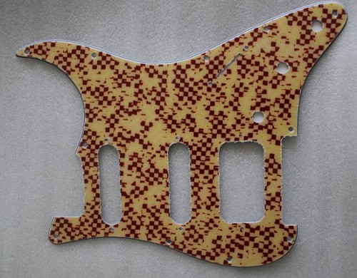"""Grid"" design,SSH / HSS LONE STAR Fat Strat Pickguard,#V016"
